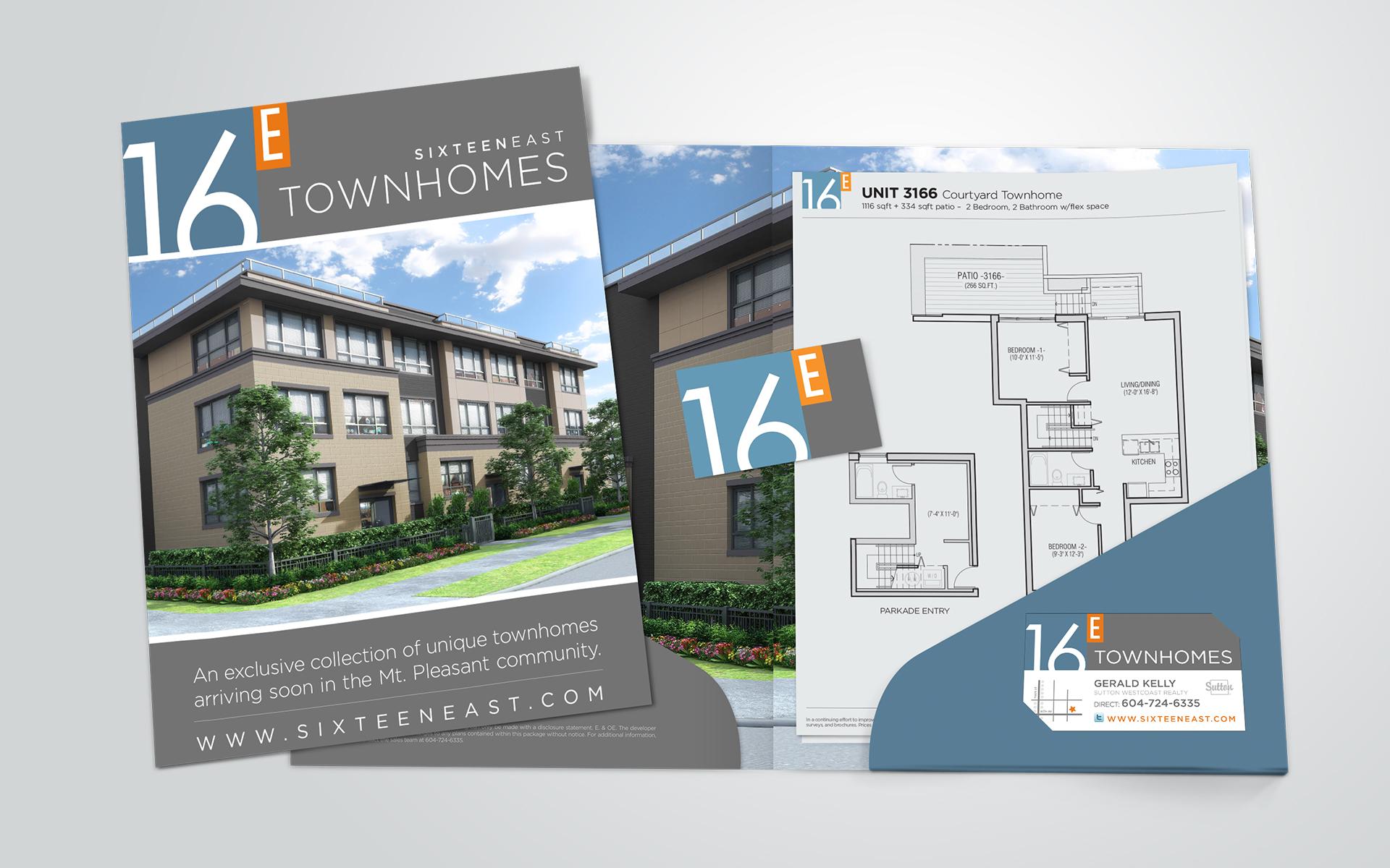 Real estate branding custom presentation folder and brochure