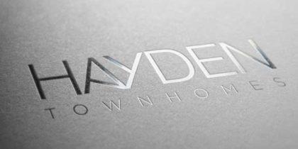 Hayden Townhomes Branding