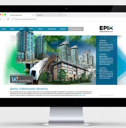 Website / Branding – EPIX Developments