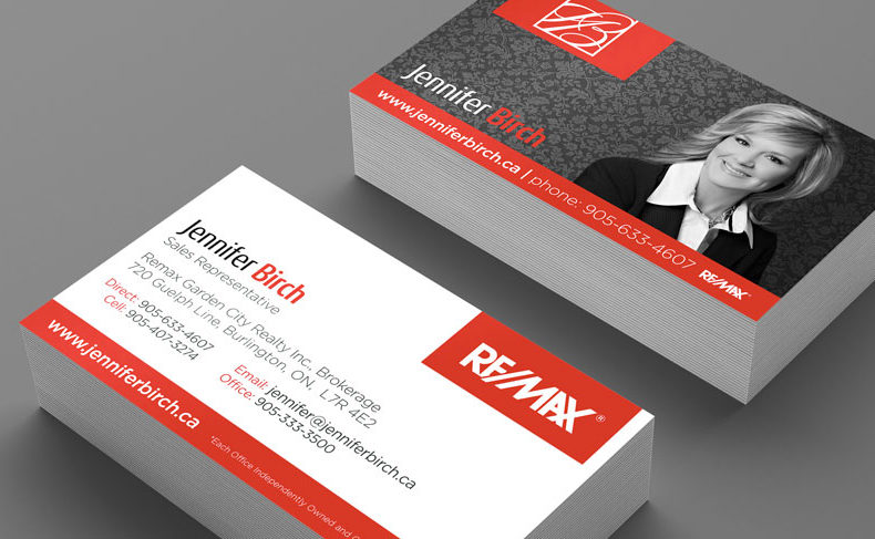 Work agentid marketing real estate agent web design branding jennifer birch business cards reheart Images